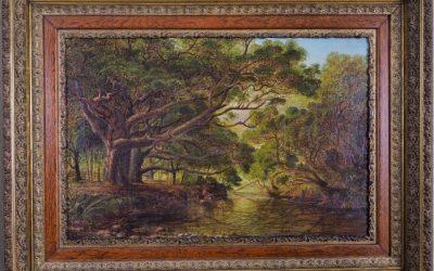 Charles Blomfield – Under the Pohutakawa Trees, Anawhata Creek – c.1880