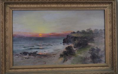 James Peele (1847-1905) – Ocean Sunset