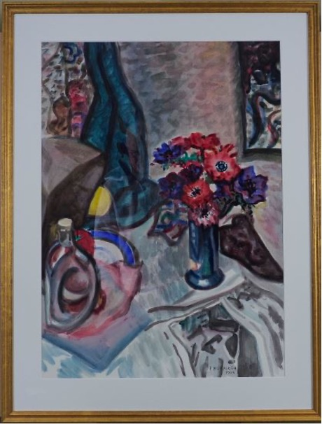 Francis McCracken – Still Life with Anemones – Signed and dated 1938
