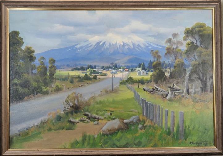 Ernest Buckmaster – Mount Ruapehu  c. 1950